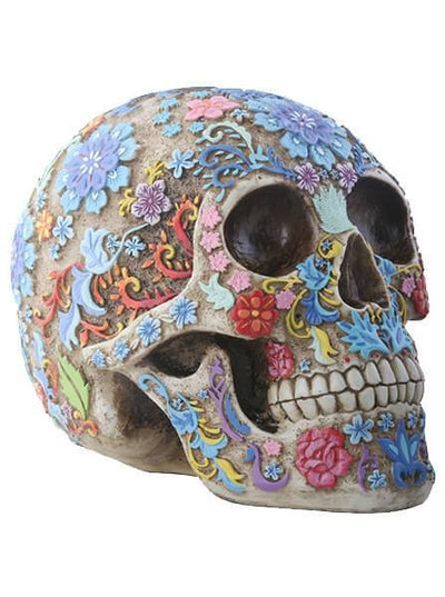 """Colored Floral"" Skull by Summit Collection - www.inkedshop.com"