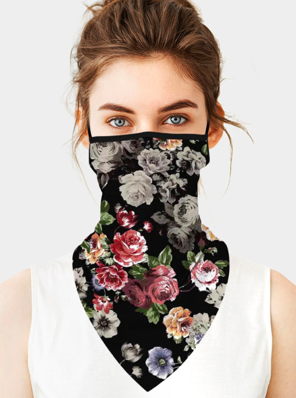 Floral Face Tube Mask