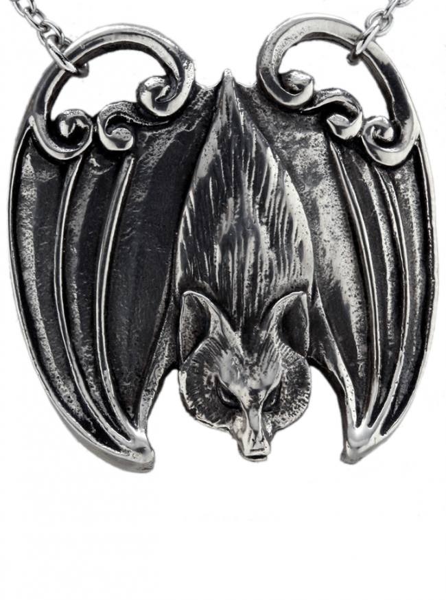 """Flying Fox Bat"" Necklace by Blue Bayer Design (Sterling Silver) - www.inkedshop.com"