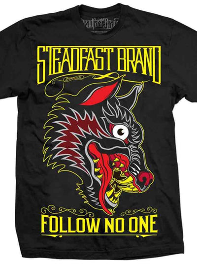 "Men's ""Follow No One"" Tee by Steadfast Brand (Black)"