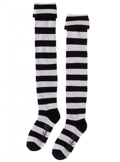 """Foldover"" Socks by Sourpuss (Black/Grey) - www.inkedshop.com"
