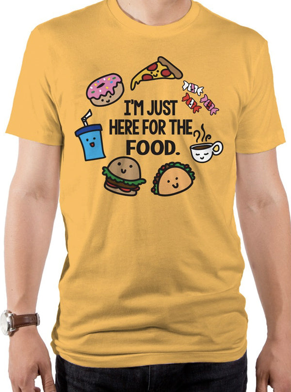 Men's Here For Food Tee by Goodie Two Sleeves (Mustard)