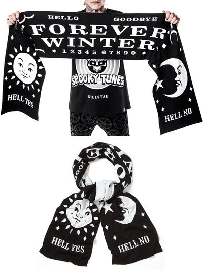 Forever Winter Knit Scarf by Killstar