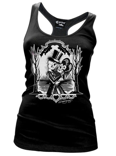 "Women's ""Forever Midnight"" Racerback Tank by Cartel Ink (Black)"
