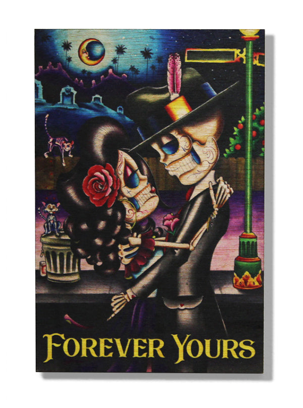 Forever Yours Wood Art by Dave Sanchez for Black Market Art Company