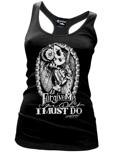 Women's Forgive Me Racerback Tank by Cartel Ink