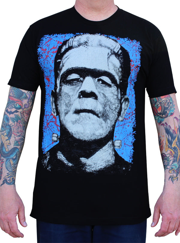 Men's Frank N. Stein Man Tee by Lowbrow Art Company