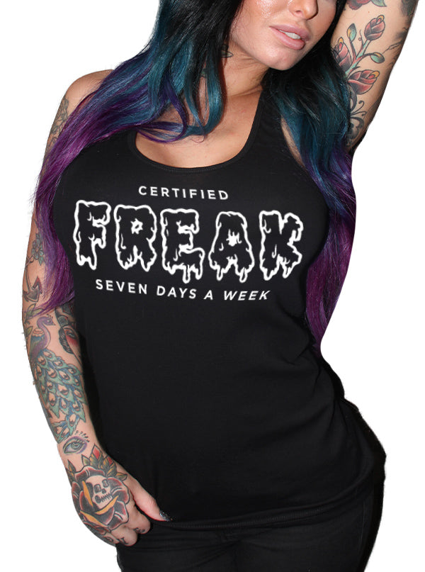 Women's Certified Freak Tank by Dirty Shirty