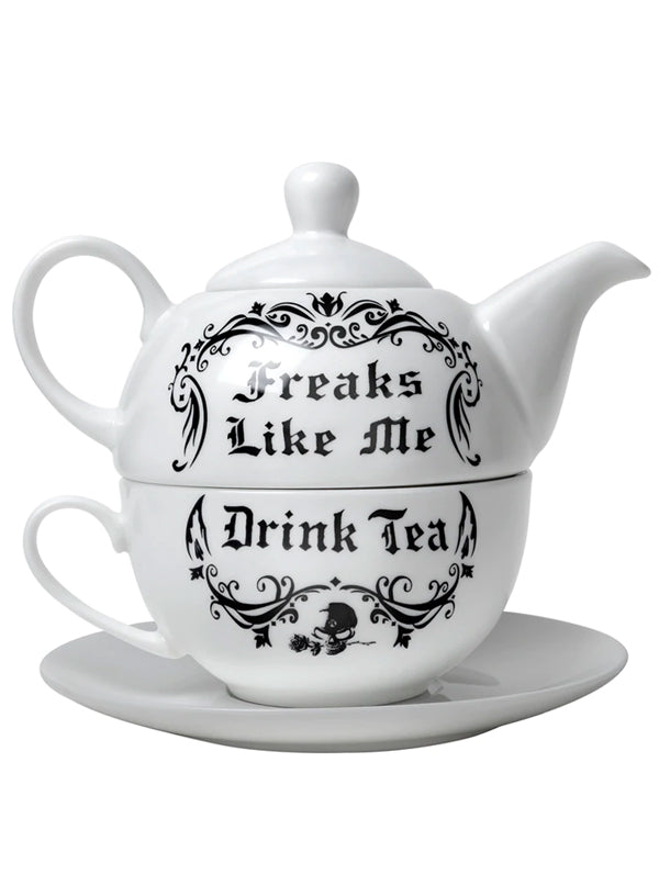 Freaks Like Me Drink Tea Set by Alchemy of England
