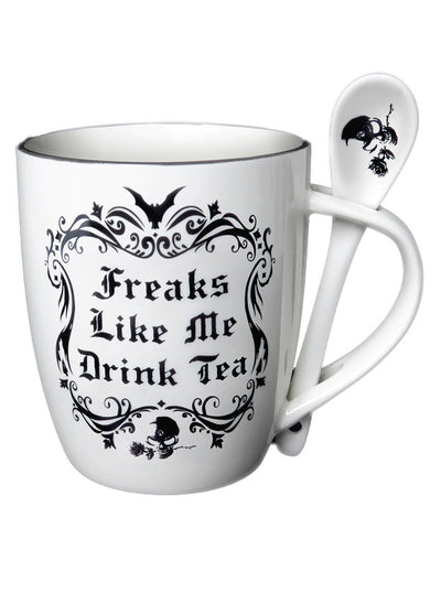 Freaks Like Me Drink Tea Mug Set by Alchemy of England