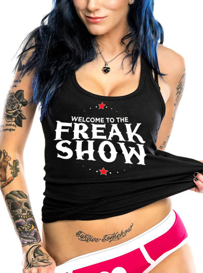 Women's Welcome to the Freakshow Tank by Dirty Shirty