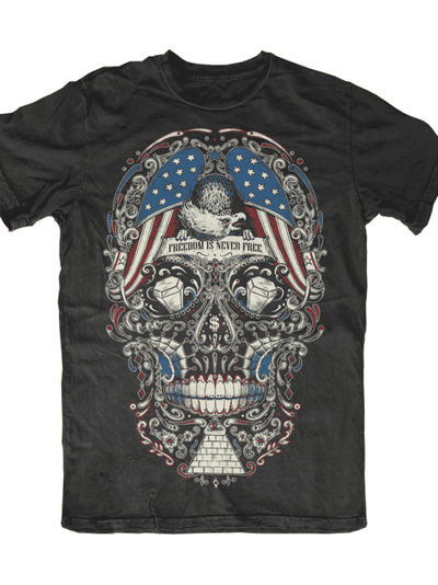 "Men's ""Free For The Dead"" Tee by Skygraphx (Black) - InkedShop - 1"
