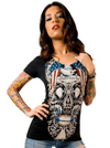 "Women's ""Free For The Dead"" V-Neck Tee By Skygraphx - InkedShop - 1"