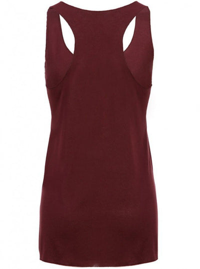 "Women's ""Free Spirit"" Loose Fit Tank by Pretty Attitude Clothing (Wine) - www.inkedshop.com"