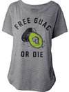 "Women's ""Free Guac Or Die"" Dolman Tee by Pyknic (Heather Grey) - www.inkedshop.com"