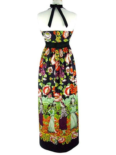 "Women's ""Frida and Catrinas Maxi"" Dress by Hemet - InkedShop - 3"