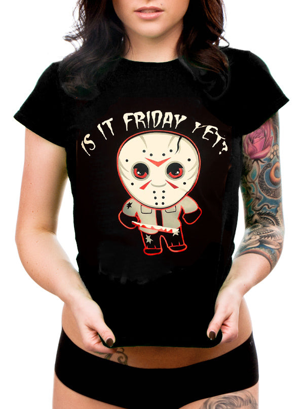 "Women's ""Is It Friday Yet"" Tee by Cartel Ink (Black)"