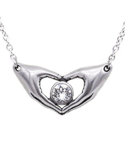 "Women's ""Friends Forever Petite Necklace "" Petite Necklace by Controse (Silver) - www.inkedshop.com"