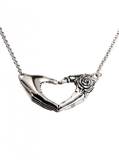 Friendship Rose Necklace by Controse (Silver) - www.inkedshop.com