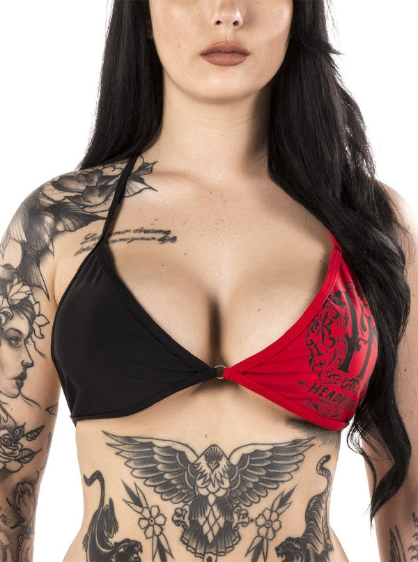 Women's Forbidden Fruit Bikini Top by Headrush Brand (Black)