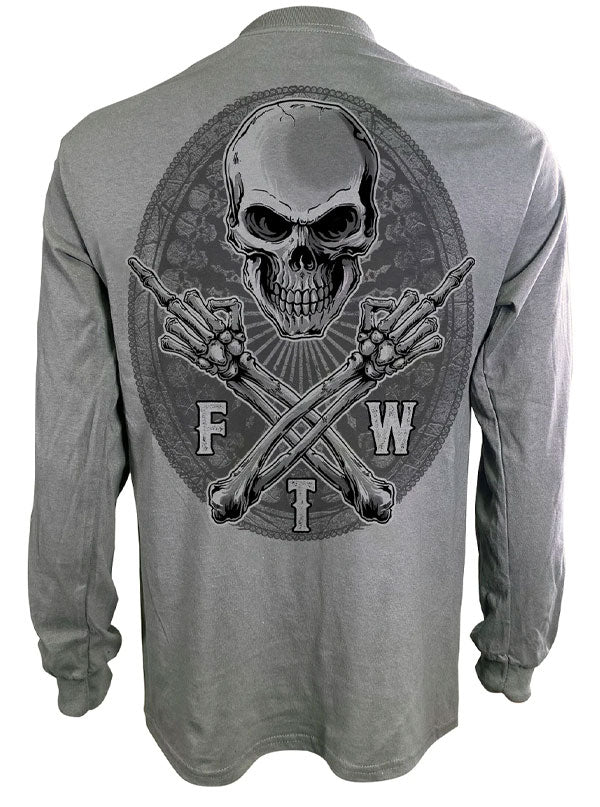 Men's FTW Skull Long Sleeve Tee by Lethal Threat