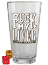 """Fuck My Liver"" Pint Glass by Trixie & Milo - www.inkedshop.com"