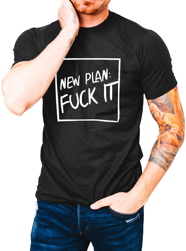 Unisex New Plan Tee by Dirty Shirty