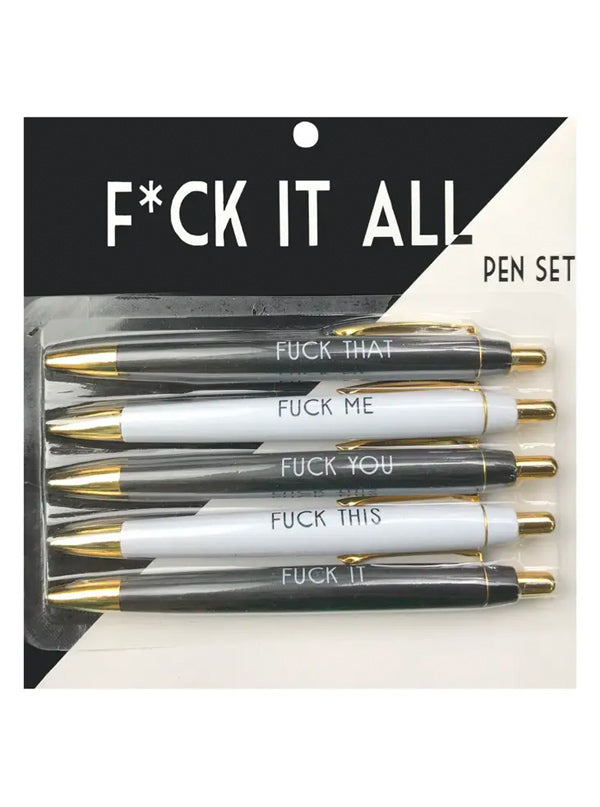 F*ck It All Pen Set