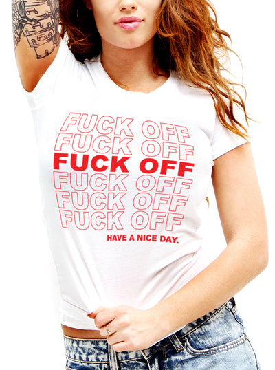 Unisex Fuck Off Tee by Dirty Shirty