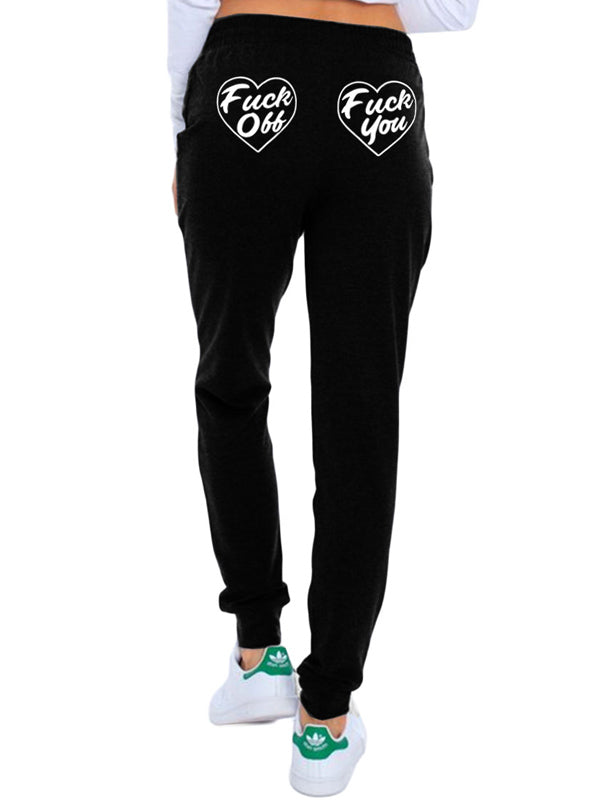 Women's Fuck You Skinny Leg Sweatpants by Too Fast