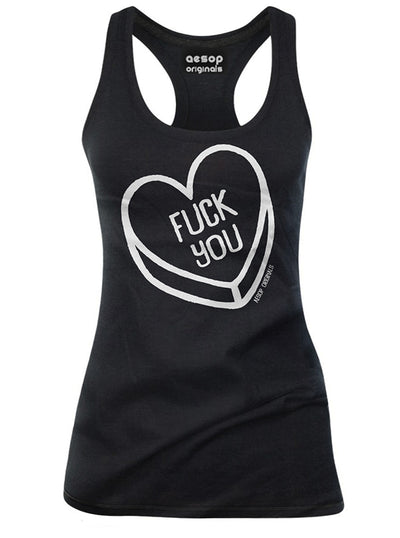 "Women's ""Fuck You"" Tank by Aesop Originals (Black)"
