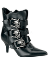"Women's ""Fury"" Boots by Demonia (Black/Silver) - www.inkedshop.com"