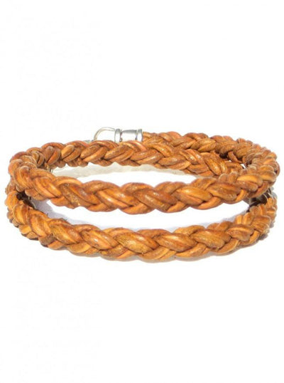 "Men's ""Braided Leather Rope Double Wrap"" Bracelet by Lucky Dog Leather (More Options) - InkedShop - 3"