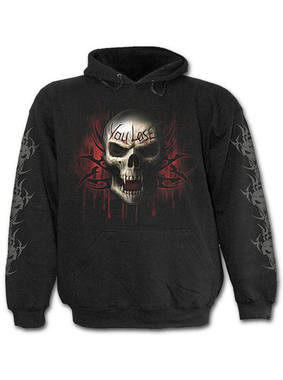 "Men's ""Game Over"" Hoodie by Spiral USA (Black) - www.inkedshop.com"