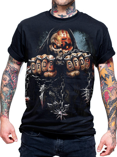 "Men's ""Game Over"" 5FDP Licensed Band Tee by Spiral USA (Black)"