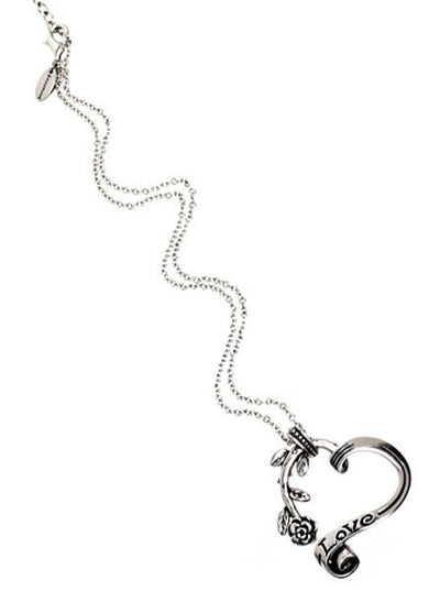 """Garden Heart"" Necklace by Controse (Silver Tone) - InkedShop - 2"