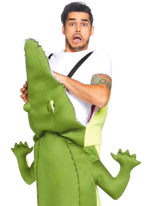 "Men's ""Man-Eating Alligator"" Costume by Leg Avenue (Green)"