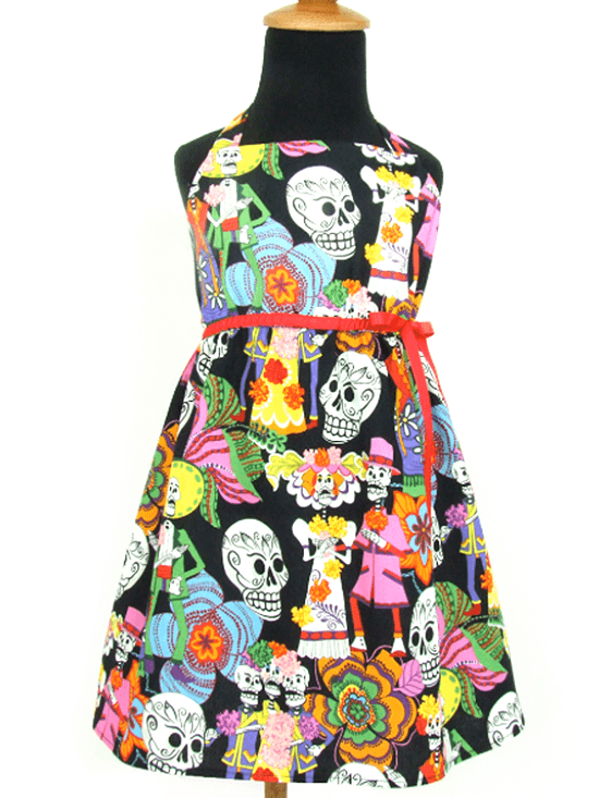 "Girl's ""Novios"" Dress by Hemet (Black) - www.inkedshop.com"