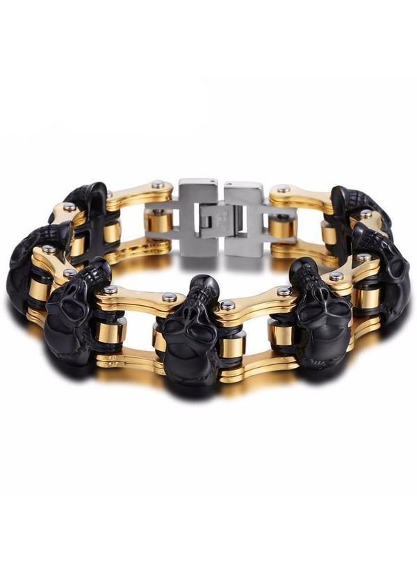 "Men's ""Gearhead"" Chain Bracelet (Stainless Steel)"