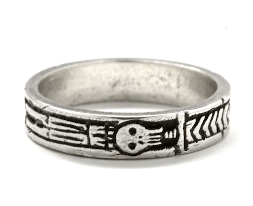 Silver Memento Mori Georgian Skeleton Ring By Blue Bayer Design - InkedShop - 1