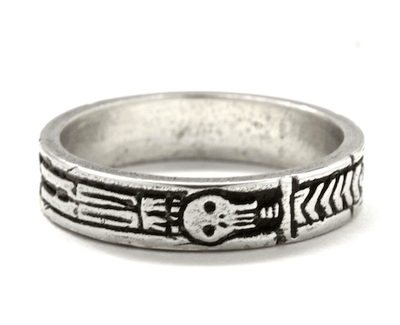 Silver Memento Mori Georgian Skeleton Ring By Blue Bayer Design - InkedShop - 2