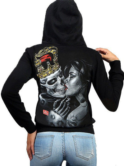 "Women's ""Lost King"" Jrs Hoodie by OG Abel (Black) - www.inkedshop.com"