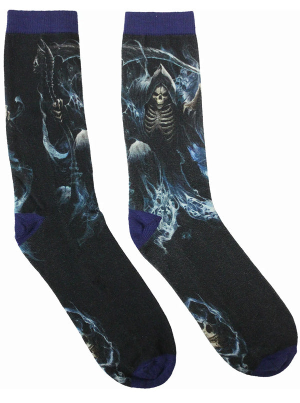 Unisex Ghost Reaper Printed Socks by Spiral USA