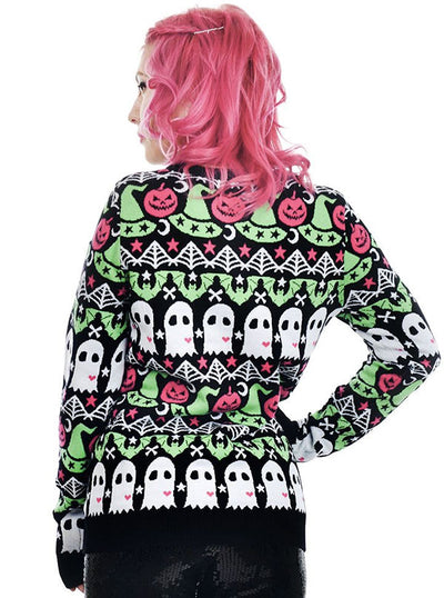 "Women's ""Hocus Pocus"" Cult Sweater by Rat Baby (Black)"