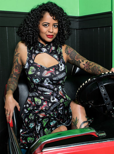 Women's Ghastly Ghouls Cadet Dress by Sourpuss