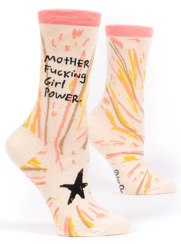 Women's Motherfucking Girl Power Crew Socks
