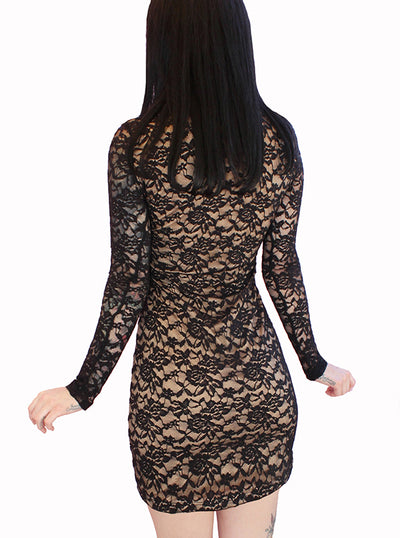 Women's Glampire Lace Mini Corset Dress by Demi Loon
