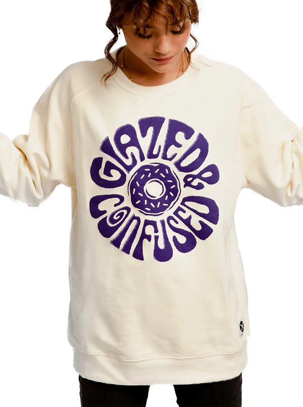 Unisex Glazed & Confused Crewneck Sweatshirt by Pyknic