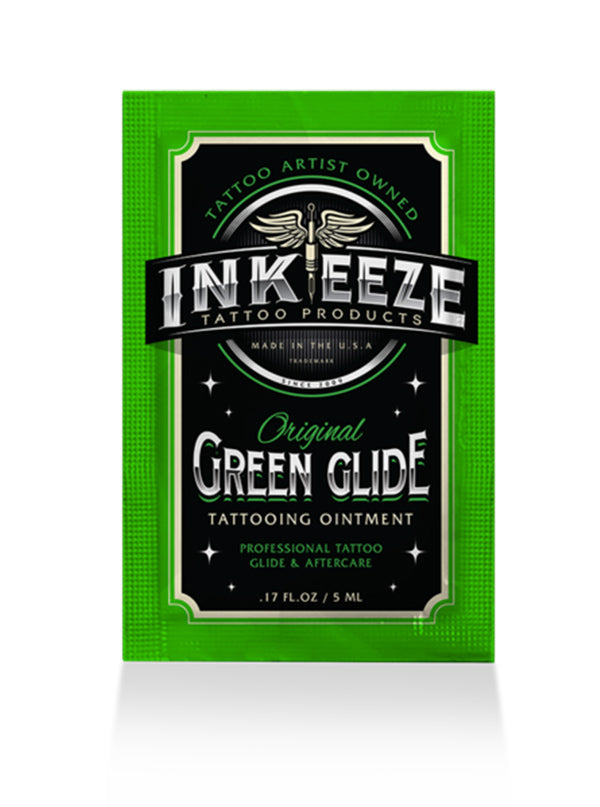 Green Glide Tattoo Ointment 5ml Packet by INK-EEZE