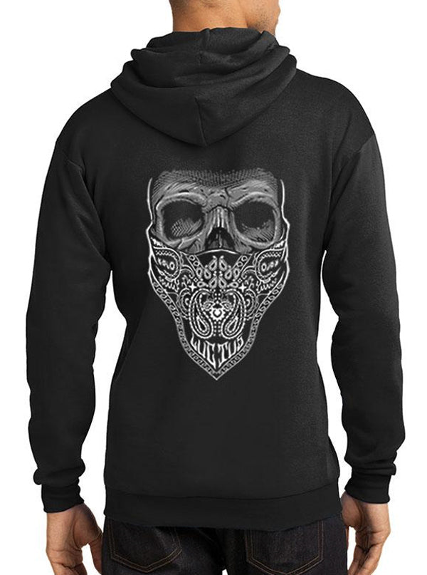 "Men's ""Mourning Glory"" Hoodie by Tat Daddy (Black)"